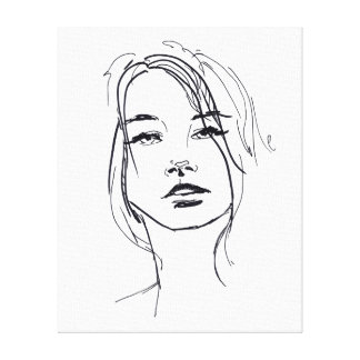 Fashion Face Illustration Canvas Print