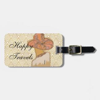 Fashion Flapper Happy Travels Luggage Tag