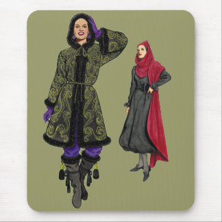 Fashion Forty Years Apart Mouse Pad
