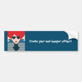Fashion french stylish fashion chic illustration bumper sticker