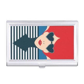 Fashion french stylish fashion chic illustration business card holder