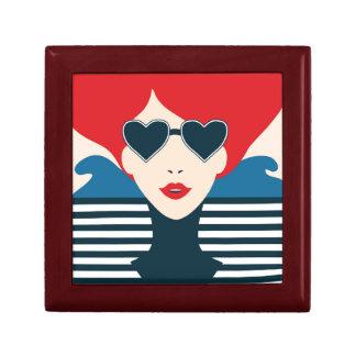 Fashion french stylish fashion chic illustration gift box
