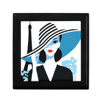 Fashion french stylish fashion chic illustration gift box