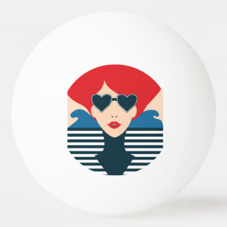 Fashion french stylish fashion chic illustration ping pong ball
