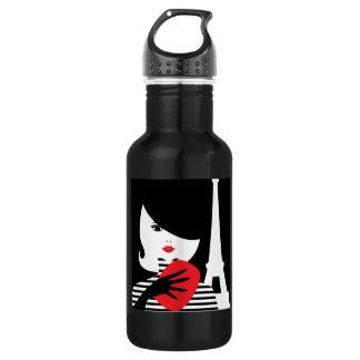 Fashion french stylish fashion illustration 532 ml water bottle