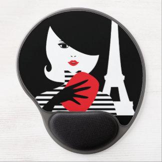 Fashion french stylish fashion illustration gel mouse pad