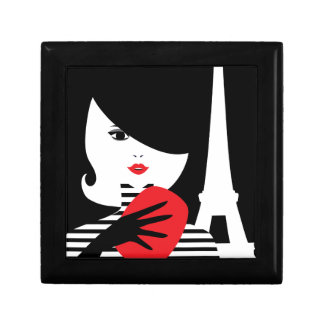 Fashion french stylish fashion illustration gift box