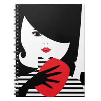 Fashion french stylish fashion illustration notebooks