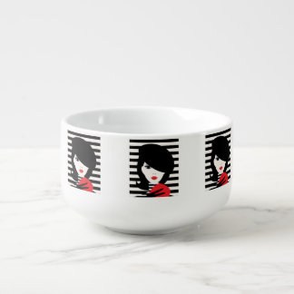 Fashion french stylish fashion illustration soup mug