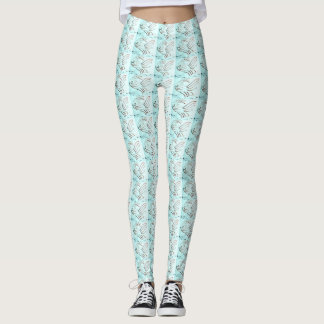 Fashion Fun Leggings Turquoise Fish