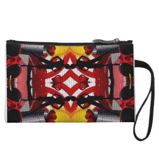 Fashion Girl Collage Wristlet Clutch