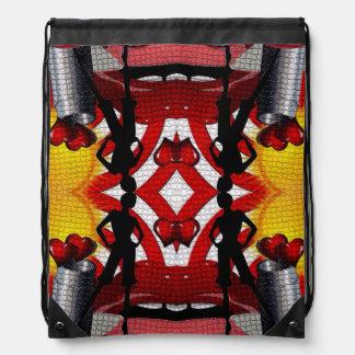 Fashion Girl Collage Drawstring Backpack