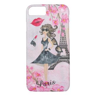 Fashion Girl in Paris Editable Phonecase iPhone 8/7 Case