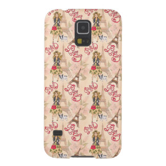 Fashion Girl in Paris Pattern Galaxy S5 Case