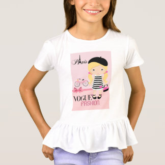 Fashion girl in Paris T-Shirt