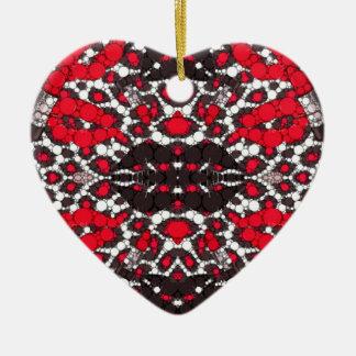 Fashion Girl Lips Cheetah Ceramic Heart Ornament