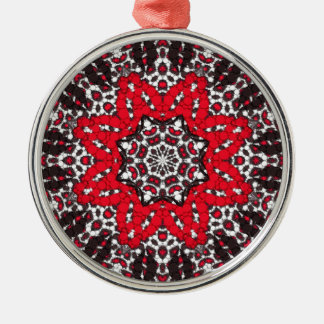 Fashion Girl Lips Cheetah Silver-Colored Round Ornament