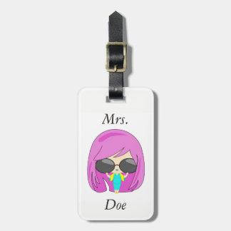 Fashion girl luggage tag