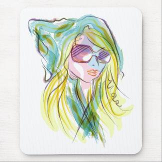 Fashion girl mouse pad