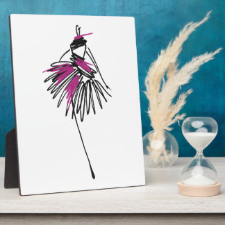 Fashion girl plaque