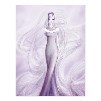 Fashion girl postcard