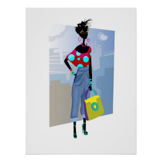 fashion girl poster