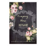 fashion girly vintage flowers chalkboard full color flyer