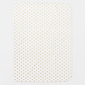 Fashion gold polka dots baby blanket