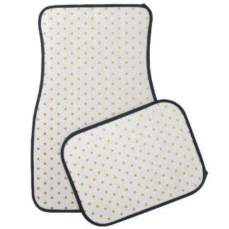 Fashion gold polka dots car mat