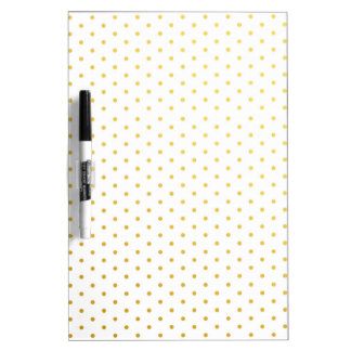 Fashion gold polka dots Dry-Erase whiteboard