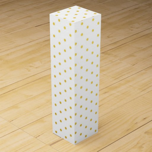 Fashion gold polka dots wine bottle box