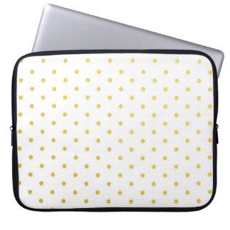 Fashion gold polka dots laptop sleeve