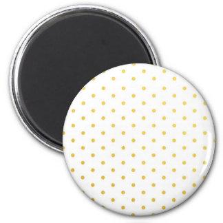 Fashion gold polka dots magnet