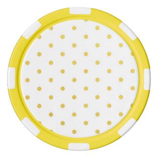 Fashion gold polka dots poker chips
