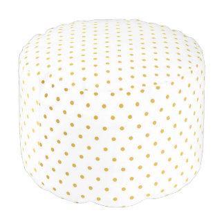 Fashion gold polka dots pouf