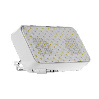 Fashion gold polka dots travelling speakers