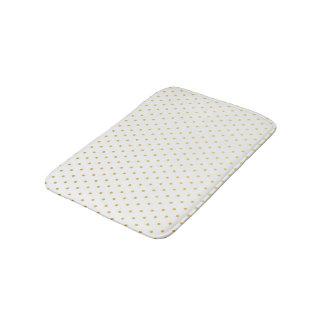 Fashion gold polka dots bath mats