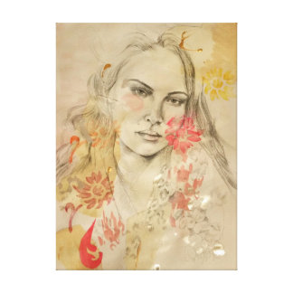Fashion illustration artwork of Erin Wasson Canvas Print