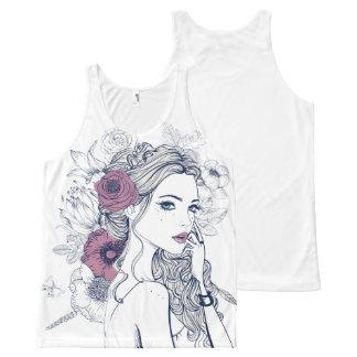 Fashion illustration black en white tank top