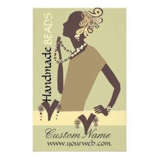 Fashion Jewel Model Modern Woman Bead Flyer