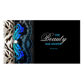 Fashion Jewelry Zebra Lace Blue Business Card
