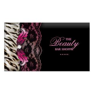 Fashion Jewelry Zebra Lace Pink Business Card