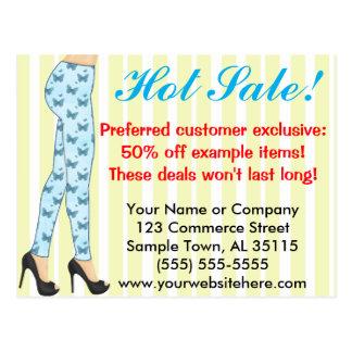 Fashion Leggings Sales Announcement Postcard