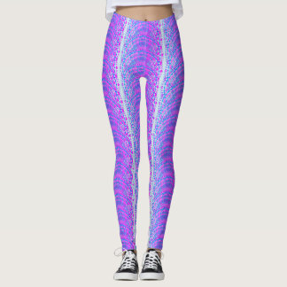 Fashion Lilac Tribal Pattern Leggings