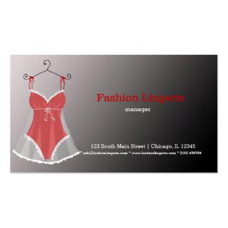 Fashion Lingerie Business Card Template