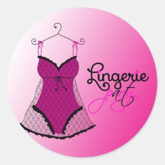 Fashion Lingerie Classic Round Sticker