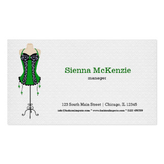 Fashion Lingerie (green) Business Cards