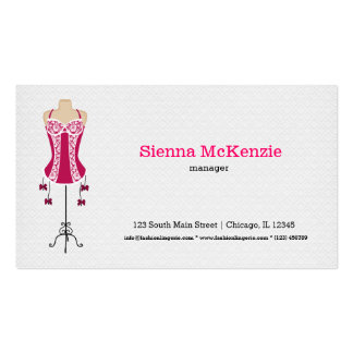 Fashion Lingerie (pink) Business Card Template