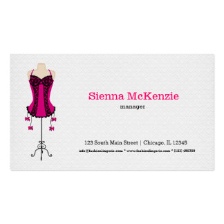 Fashion Lingerie (pink) Pack Of Standard Business Cards