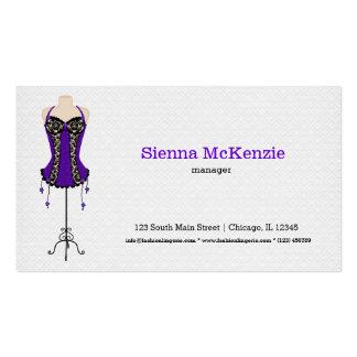 Fashion Lingerie (purple) Business Cards